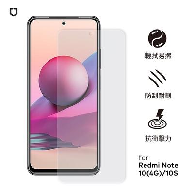 犀牛盾 Xiaomi小米 紅米 Note 10(4G)/10S共用 耐衝擊手機保護貼-透明非滿版(正面)