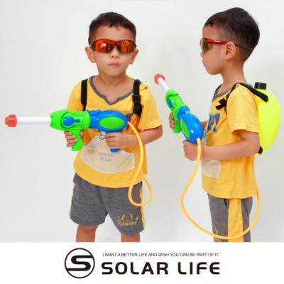 氣壓式抽拉兒童玩具水槍背包.夏日玩水趣親子休閒大容量打水仗拉抽式兒童水槍玩具沙灘戲水