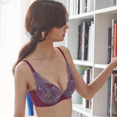 蕾黛絲-20週年V真水 D罩杯內衣 勇氣灰紫
