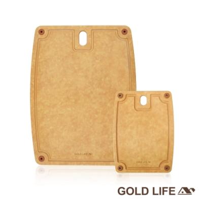 GOLD LIFE 美國原木不吸水抗菌砧板2入組(大+小) [時時樂限定]