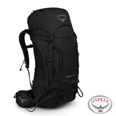 OSPREY 新款 Kestrel 48L 輕量健行登山背包_黑 R