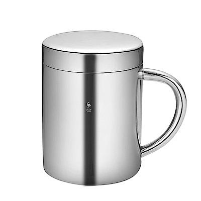 PUSH!餐具用品防摔304不鏽鋼400ml兒童杯(帶蓋款)E127
