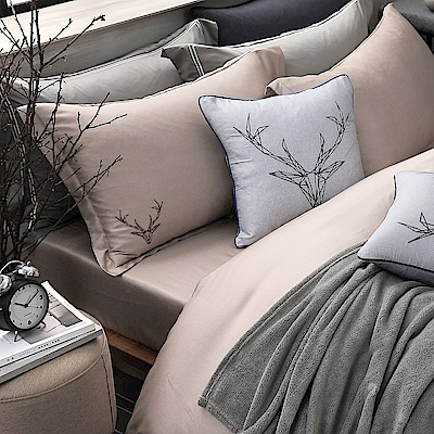 OLIVIA Luke 路克 香檳金 加大雙人床包枕套三件組 230織天絲™萊賽爾