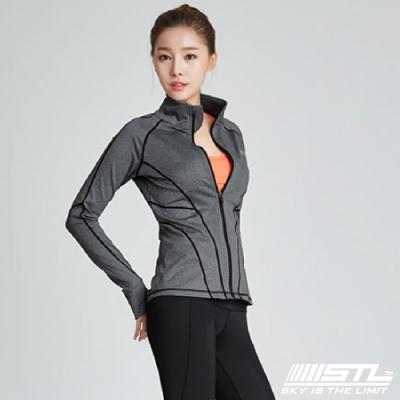 STL 韓國立領運動機能防風外套 灰