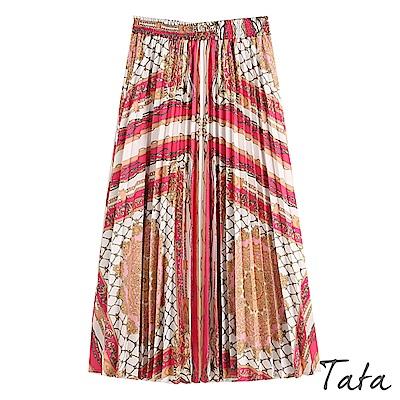 鎖鏈印花百褶長裙 TATA