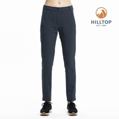 【hilltop山頂鳥】女款超潑水保暖彈性長褲H31FL9印墨色
