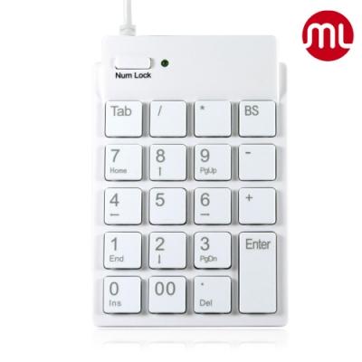 【morelife】超薄USB數字鍵盤-白SKP-7120H2W