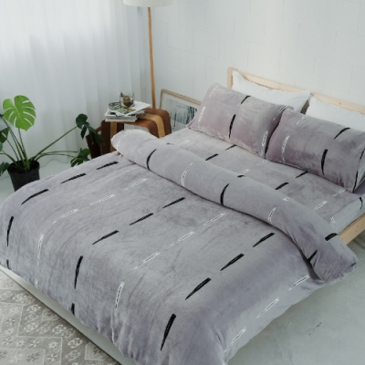 BUHO 極柔暖法蘭絨單人床包二件組(玩味PUNK)