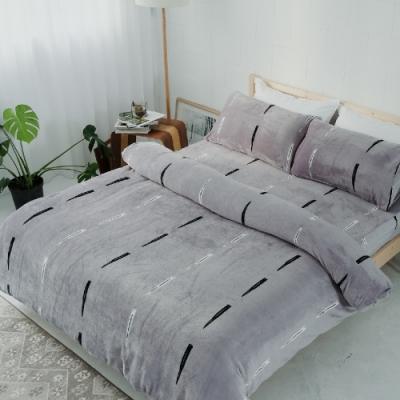 BUHO 極柔暖法蘭絨雙人床包三件組(玩味PUNK)