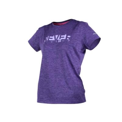 FIRESTAR 女短袖吸排圓領衫-短T T恤 慢跑 路跑 麻花深紫
