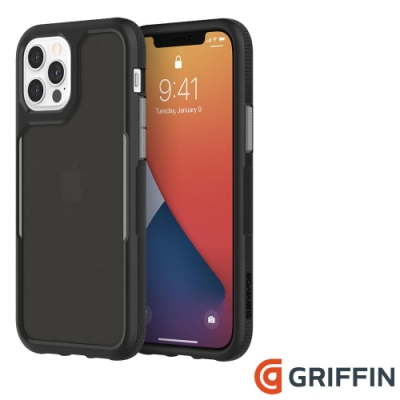 Griffin Survivor Endurance iPhone 12/12 Pro 軍規抗菌防摔殼-黑