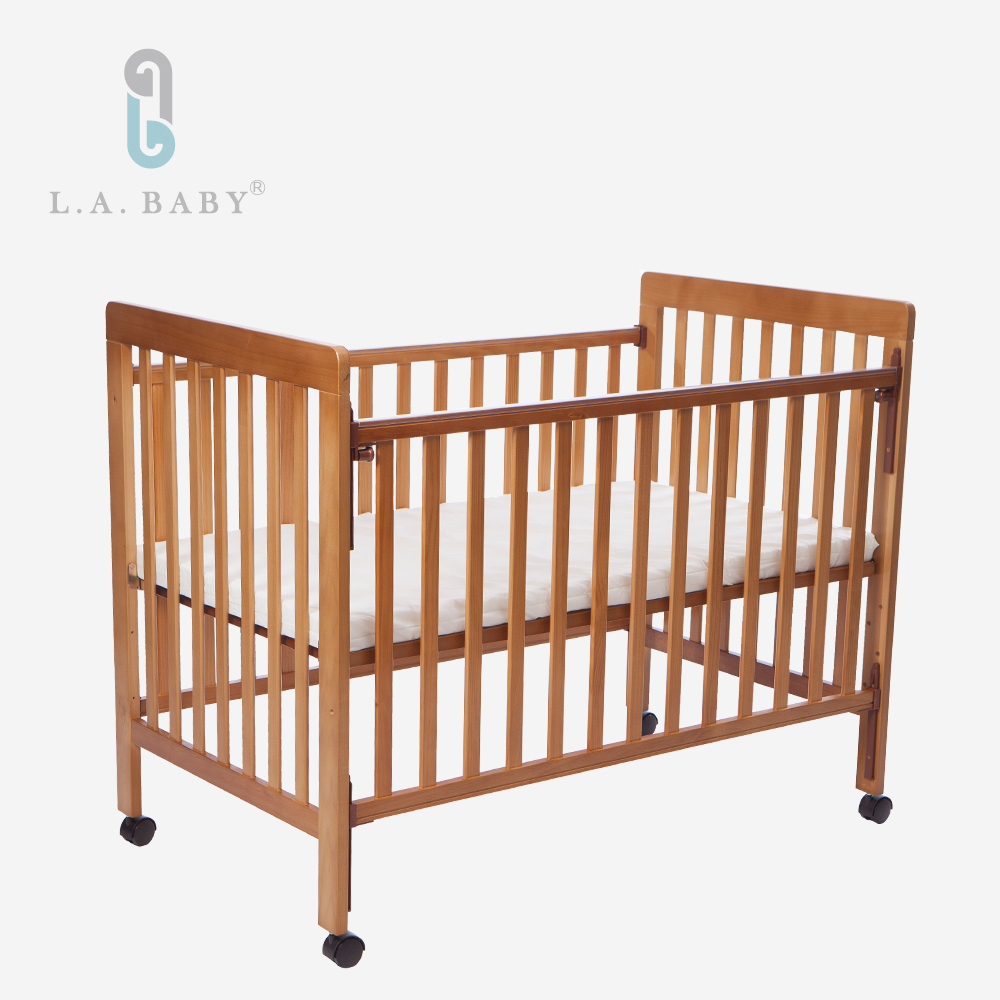 L.A. Baby  密西根三合一嬰兒大床(柚木色)