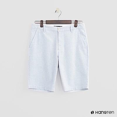 Hang Ten - 男裝-夏日簡約口袋短褲 - 藍