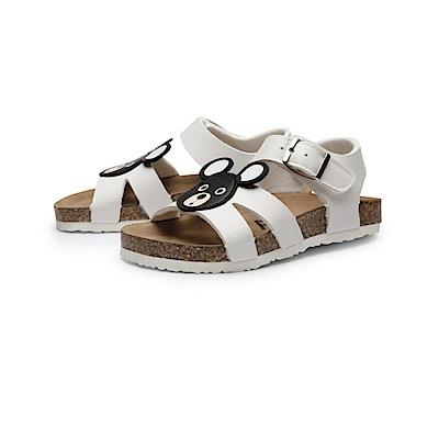 BuyGlasses 可愛動物童趣涼鞋-白