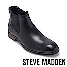 STEVE MADDEN-LESTON真皮紳士雀爾喜靴-黑色