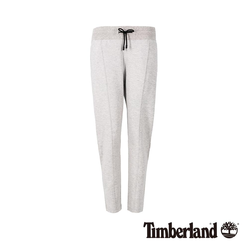 Timberland 女款淺灰色石南花舒適休閒運動褲|B3201