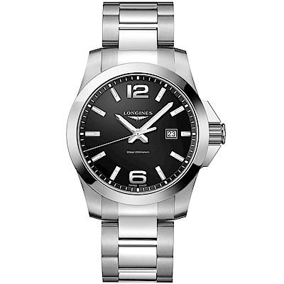 LONGINES海洋征服者石英300米潛水腕錶(L37604566)