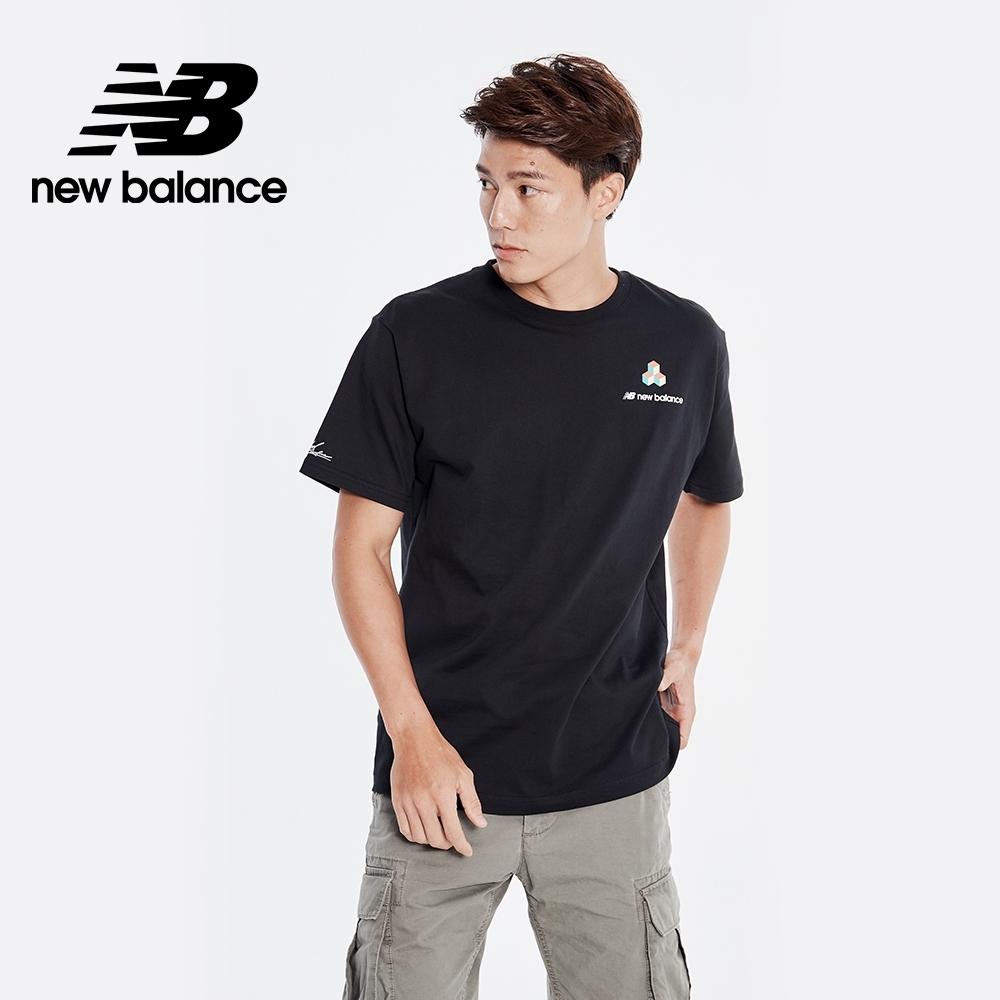 New Balance 藝術家聯名背部插畫短袖上衣_男性_黑色_AMT01560BK