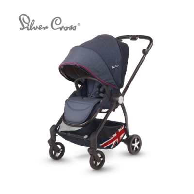 Silver Cross Spirit 雙向 高景觀 避震輪 可平躺 新生兒 嬰兒手推車 0m+(英國旗)
