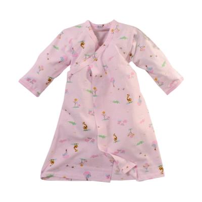 台灣製薄款純棉嬰兒長睡袍 b0289 魔法Baby
