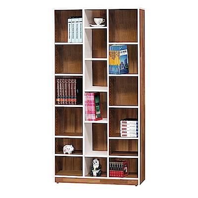 H&D 肯傑雙色3尺開放書櫃