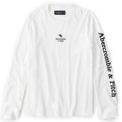 AF a&f Abercrombie & Fitch 男 長袖T恤 白色 1477