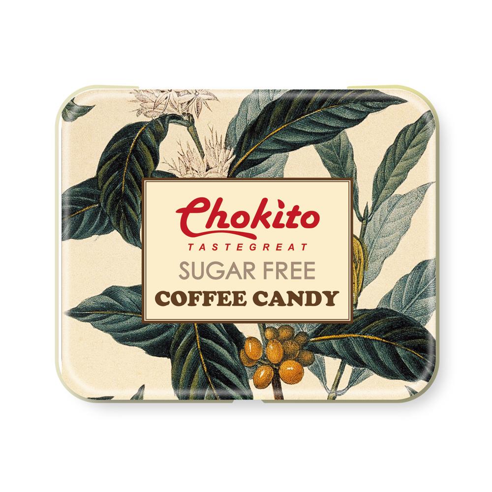 Chokito 西班牙無糖超濃咖啡糖鐵盒(50g)