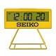 SEIKO 精工 / QHL083Y / 城市路跑 日期 計時 貪睡鬧鈴 可拆座架 長方形鬧鐘 電子鐘-黃色 product thumbnail 2