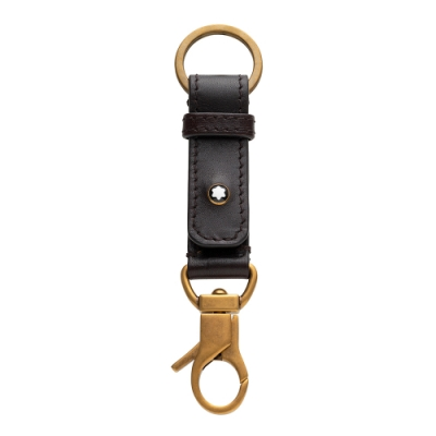 Montblanc 萬寶龍 傳承系列牛皮雙扣鑰匙圈
