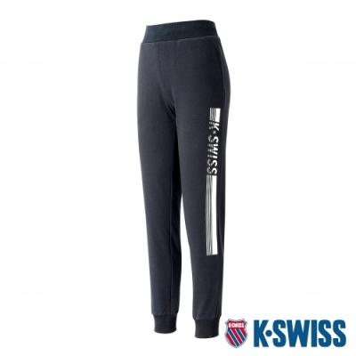 K-SWISS KS Waist Band Sweat Pants棉質運動長褲-男-黑