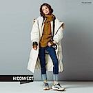 H:CONNECT 韓國品牌 女裝-側拉鍊長版羽絨外套-白