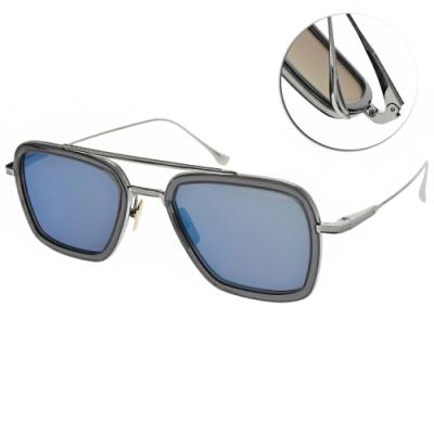 DITA 太陽眼鏡 鋼鐵人飛行框款/透灰藍-銀-藍水銀灰鏡片#FLIGHT 006 7806-A-SMK-PLD