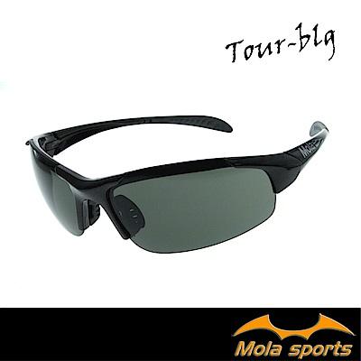 MOLA SPORTS摩拉兒童(8-12)運動太陽眼鏡 黑色 頂級防護鏡片 UV400