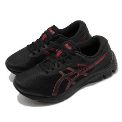 Asics 慢跑鞋 Gel Pulse 12 GTX 男鞋 亞瑟士 路跑 防潑水 快速排汗 亞瑟膠 黑 紅 1011A848001