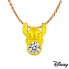 Disney迪士尼系列金飾 黃金墜子-閃亮史迪奇款 送項鍊