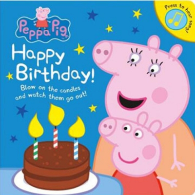 Peppa Pig:Happy Birthday! 佩佩豬生日快樂!硬頁音效書