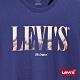 Levis 男款 短袖T恤 Serif Logo沙漠印花 寬鬆休閒版型 靛藍 product thumbnail 1