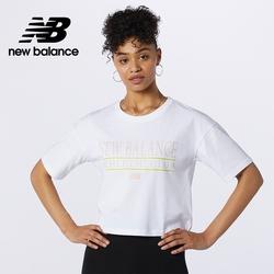 [New Balance]短版短袖T恤_女性_白色_WT13509WT