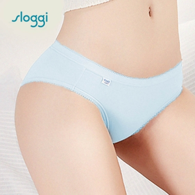sloggi Comfort系列中腰小褲 藍色系 C76-802 KY