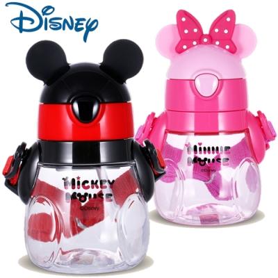 優貝選迪士尼可愛胖胖瓶吸管式背帶水壺440ML