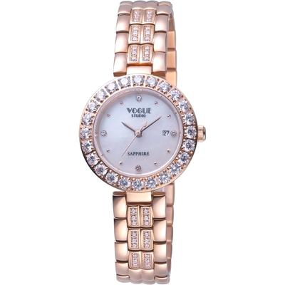 VOGUE 璀璨晶鑽時尚腕錶 VG2104G1P1DD/白-29mm