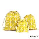 Loft Deco | Yellow lines | 束口袋三件套