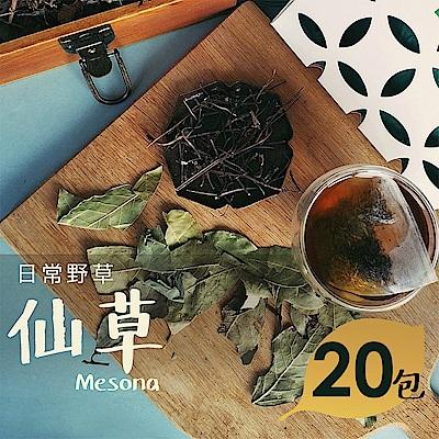 日常野草 隨遇而安 仙草青草茶(5gX20包)(10包/盒,共2盒)