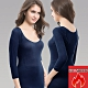 EROSBODY 女日本機能纖維針織衛生衣保暖發熱衣 藏青 product thumbnail 1