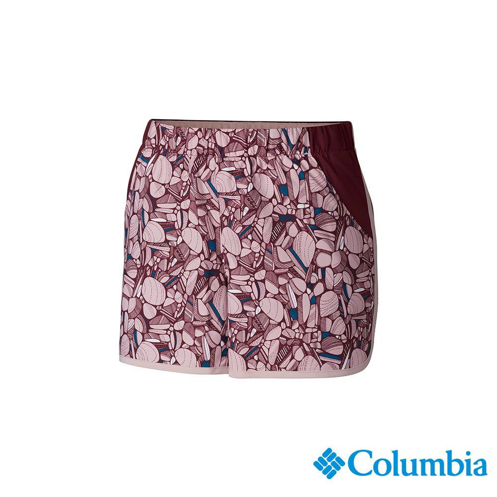 Columbia 哥倫比亞 女款-UPF50快排彈性短褲-粉紅 UAR26010PK