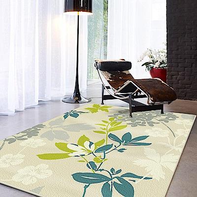 范登伯格 - 亞瓦 進口仿羊毛地毯 - 情葉-綠 (160 x 230cm)