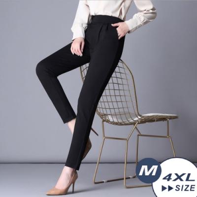【LANNI 藍尼】時尚顯瘦彈力哈倫褲-3色(M-4XL)●