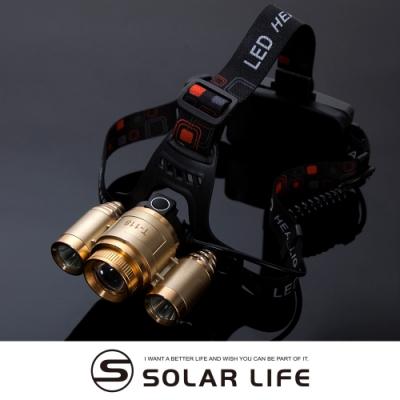 T6充電頭戴式登山工作變焦頭燈.戶外露營夜遊夜釣3600流明伸縮旋轉調節變焦探照明頭燈