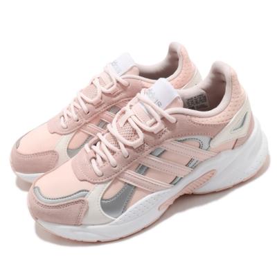 adidas 休閒鞋 Crazychaos Shadow 女鞋 愛迪達 三線 復古 微增高 麂皮 穿搭 粉 銀 FX8893