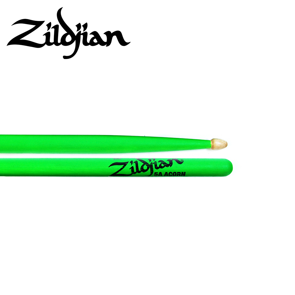 ZILDJIAN 5ACW DGG 螢光鼓棒 綠色款